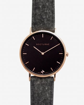 Rose Gold Black – Grey Tweed (With A Complimentary Pair of Watch Straps)