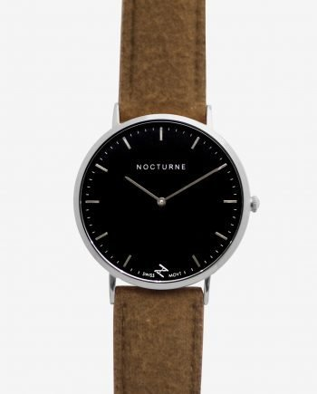 Silver Black – Brown Tweed (With A Complimentary Pair of Watch Straps)