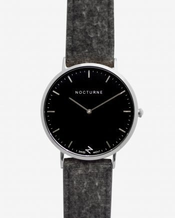 Silver Black – Grey Tweed (With A Complimentary Pair of Watch Straps)