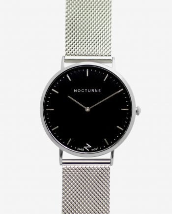Silver Black – Mesh (With A Complimentary Pair of Watch Straps)