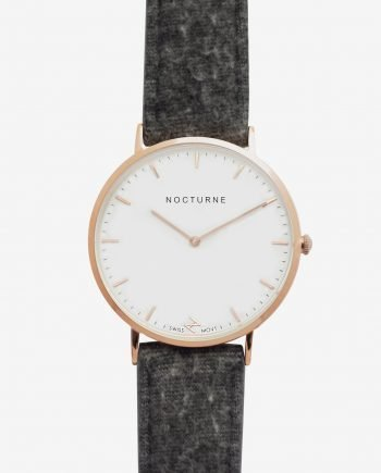 Rose Gold White – Grey Tweed (With A Complimentary Pair of Watch Straps)