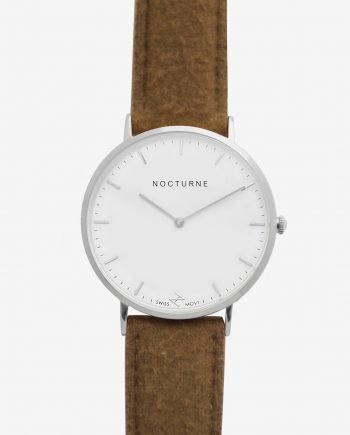 Silver White – Brown Tweed (With A Complimentary Pair of Watch Straps)