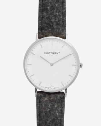 Silver White – Grey Tweed (With A Complimentary Pair of Watch Straps)