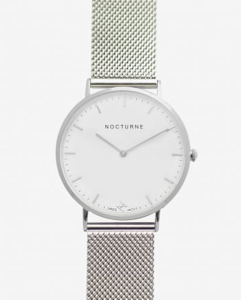Silver White – Mesh (With A Complimentary Pair of Watch Straps)